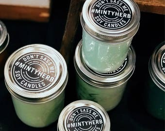 MINTY HERB Soy Candle