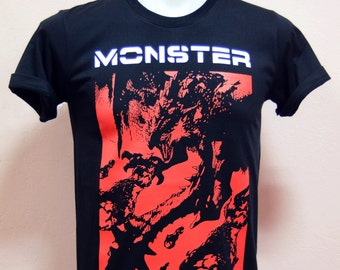 8921d355 Monster Hunter Rathalos color Red BG Design screen with pastisol color -  Unisex Adult T-Shirt Black Tshirt