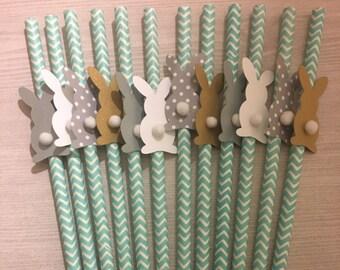 Bunny Straws - Adorable Easter Decor