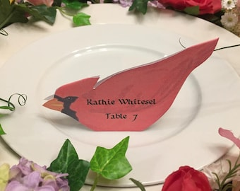 Bird Place Cards - Bird Place Card - Cardinal - Place Card - Wedding Place Card - Event Escort Card - Winter - Cardinal - Christmas