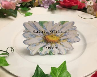 Daisy Place Cards - Flower Place Card - Place Cards - Wedding Place Card - Event Escort Card - Flower