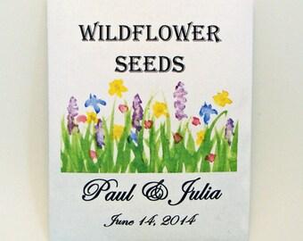 Custom Orders Only - Wildflower Wedding - Seed Packet - Flower Seed Packet - Wedding Favor - Party Favor Seed Packet - Customized - Flower