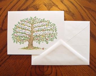 Fruit of the Spirit Note Cards - Fruit Tree - Set of 4