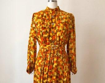 Printed velvet dress   Etsy