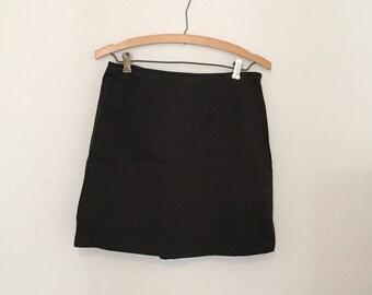 Black Twill Mini-Skirt -  Early 90s