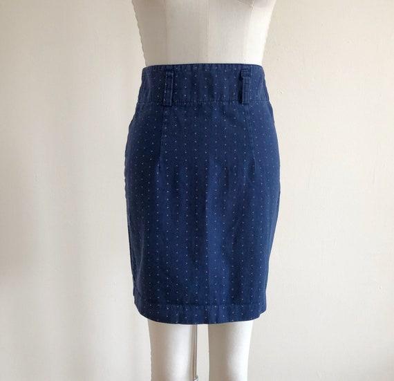 Printed Denim Mini-Skirt - 1980s