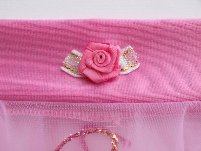 Glittered Handkerchief Style Dance Skirt with Waist Trim Available in Rainbow or Pink READY TO SHIP