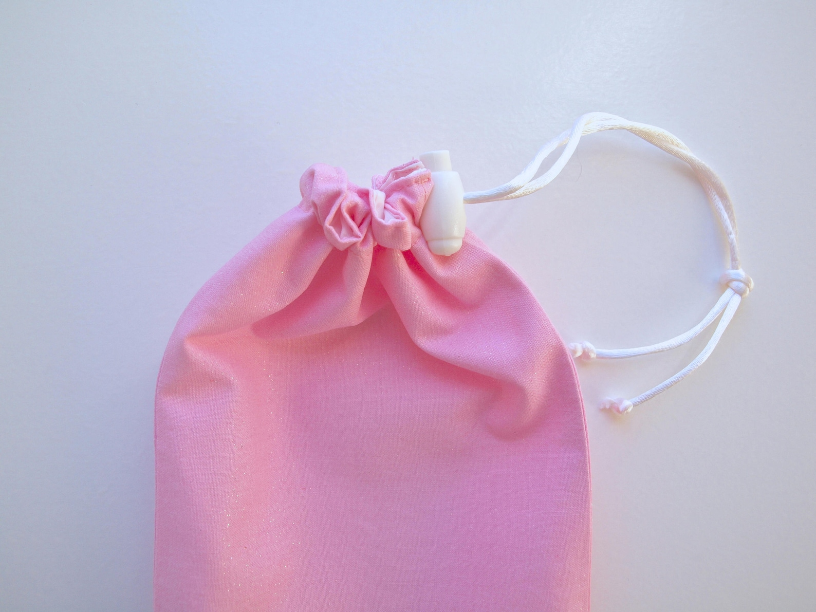 drawstring ballet slipper bag with choice of ballet text or personalized with name made to order