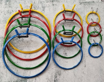 Nurge Spring metal/plastic hoop for cross stitch and embroidery