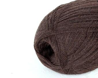 Cobweb brown color wool yarn - haapsalu shawl yarn