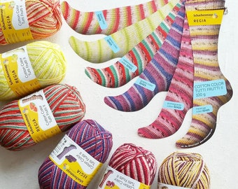 9d2e8ab39 NEW colorways 2019 Regia Cotton Tutti Frutti collection 4 ply sock yarn