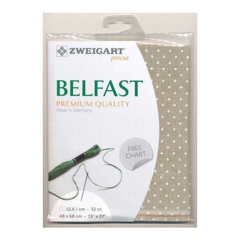 Zweigart Belfast Petit point Precut precut size 19 x 27  48 x 68 cm 32ct evenweave