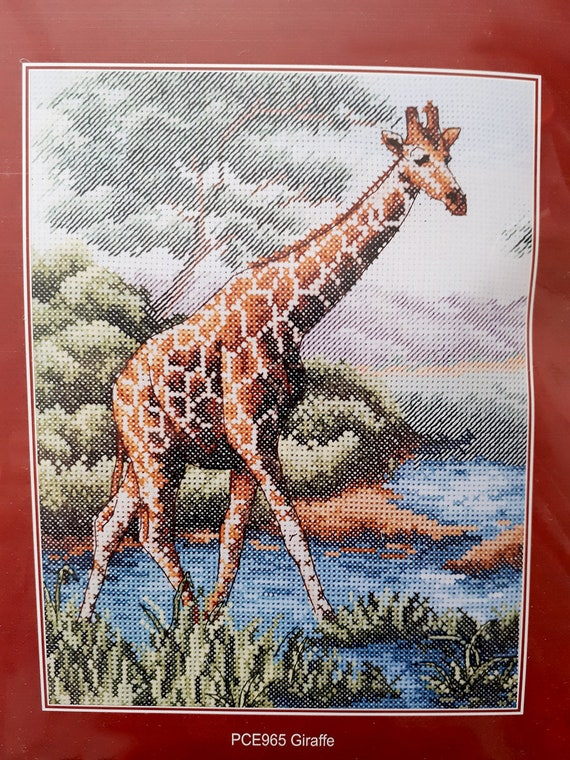 Cross Stitch Kit Giraffe art 10-34