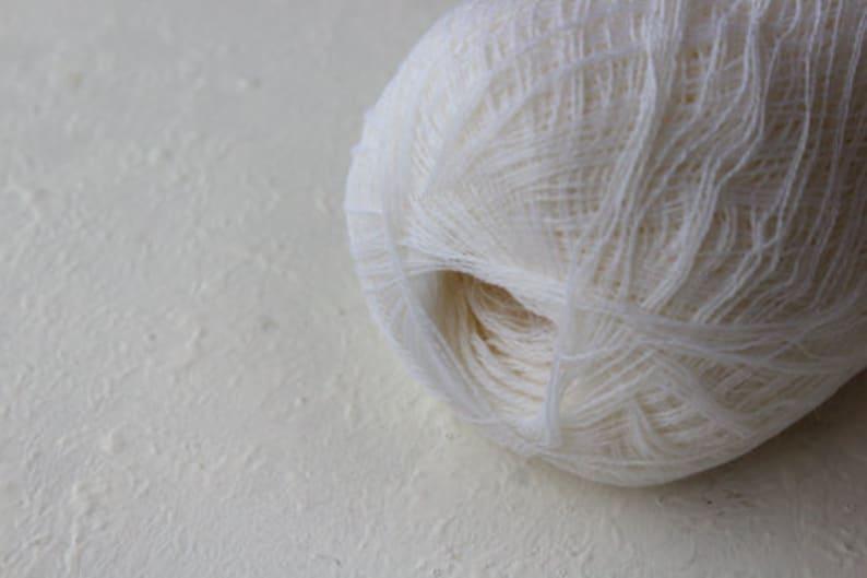 Cobweb  white wool yarn  haapsalu shawl yarn image 0