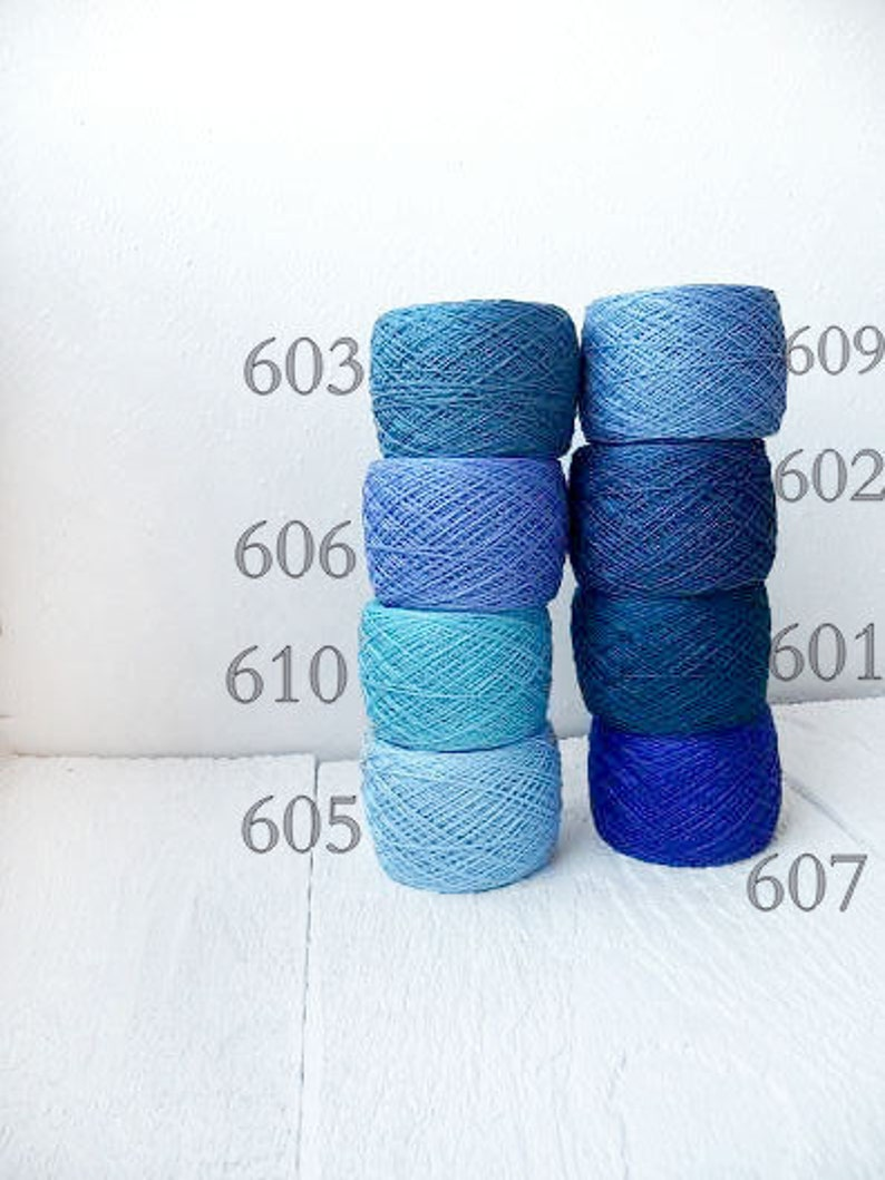 8bfd6e8ac66f Blue Crochet Thread collection high quality 100% Linen