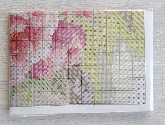 Pink Peony Alisa Cross Stitch Kit