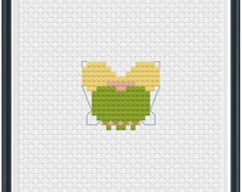 Mouse Ears Tinkerbell Cross Stitch Pattern .PDF - Instant Download
