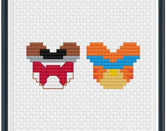 Mouse Ears Oliver and Company Cross Stitch Pattern .PDF - Instant Download