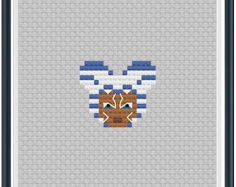 Mouse Ears Galaxy Ahsoka Tano Cross Stitch Pattern .PDF - Instant Download