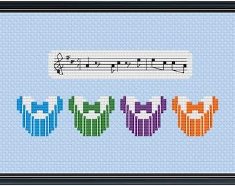 Mouse Ears Dapper Dans Cross Stitch Pattern .PDF - Instant Download