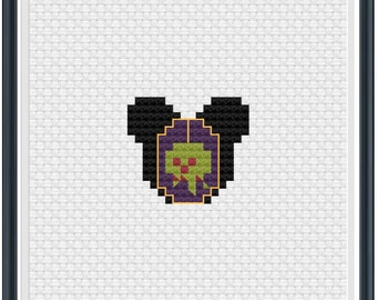 Mouse Ears Evil Queen Cross Stitch Pattern .PDF - Instant Download