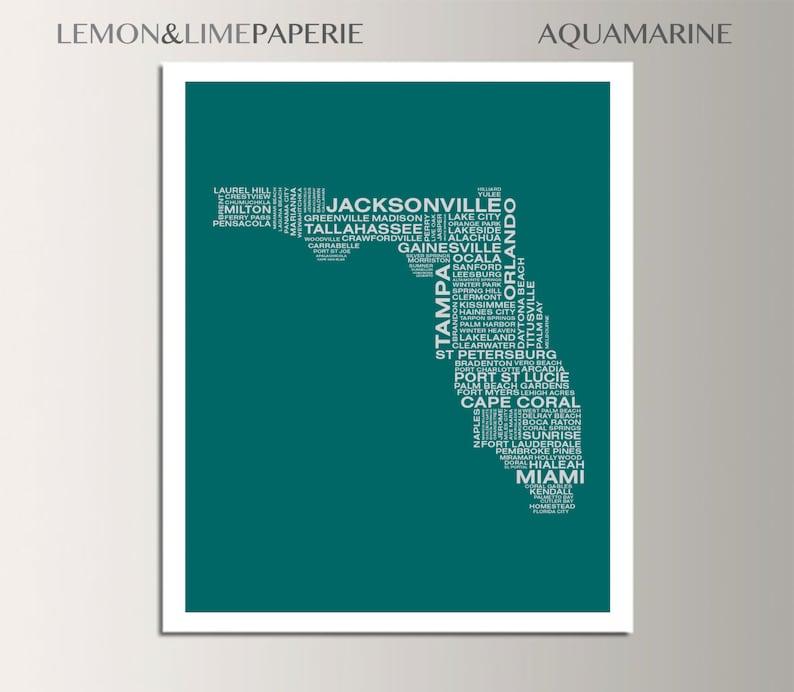 Greenville Florida Map.Florida Typographic Map Florida Typography Map Print Florida Etsy
