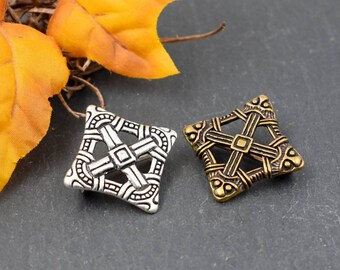 Viking brooch bronze or silver plated, Viking cross brooch bronze, medieval brooch, clasp, Viking jewellery