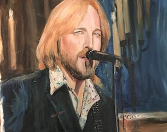 "Tom Petty, ""Wildflowers,"" 1990s, part of ""40 Years a Heartbreaker"" series, 8.5""x11"""