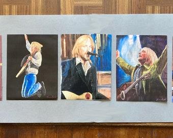 Tom Petty, 40 Years A Heartbreaker, Five giclee print set