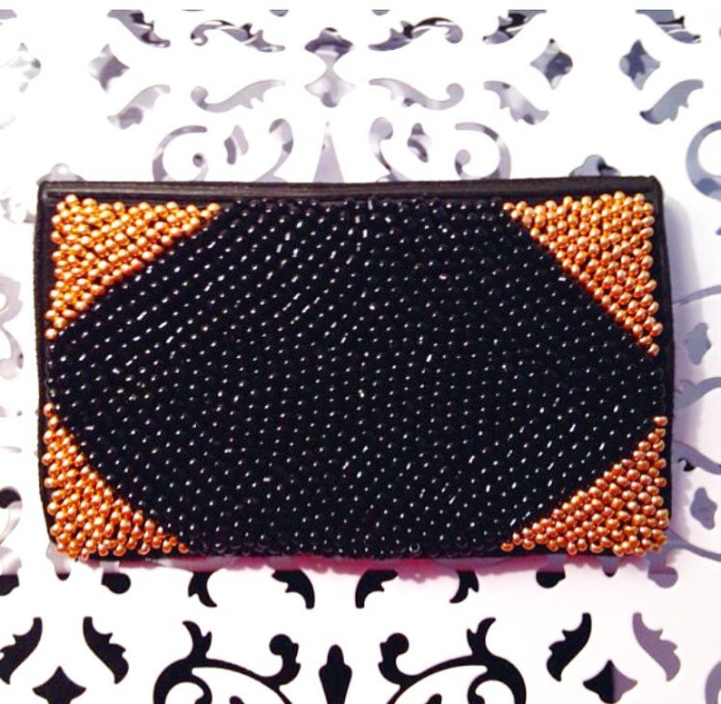 Gold Birth Control Case | Beaded Birth Control Case | Gold Pill Case | Gold  Pill Holder | Beaded Wallet | Gold Wallet | Pill Cover | Case