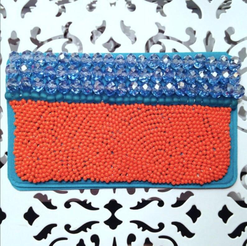 Orange Birth Control Case | Blue Birth Control Case | Orange Pill Case |  Orange Pill Holder | Beaded Case Birth Control Case | Beaded Case