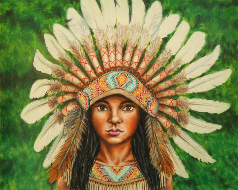 7aaf4a1f337 American Indian Drawing Warbonnet Indian Headdress Warbonnet
