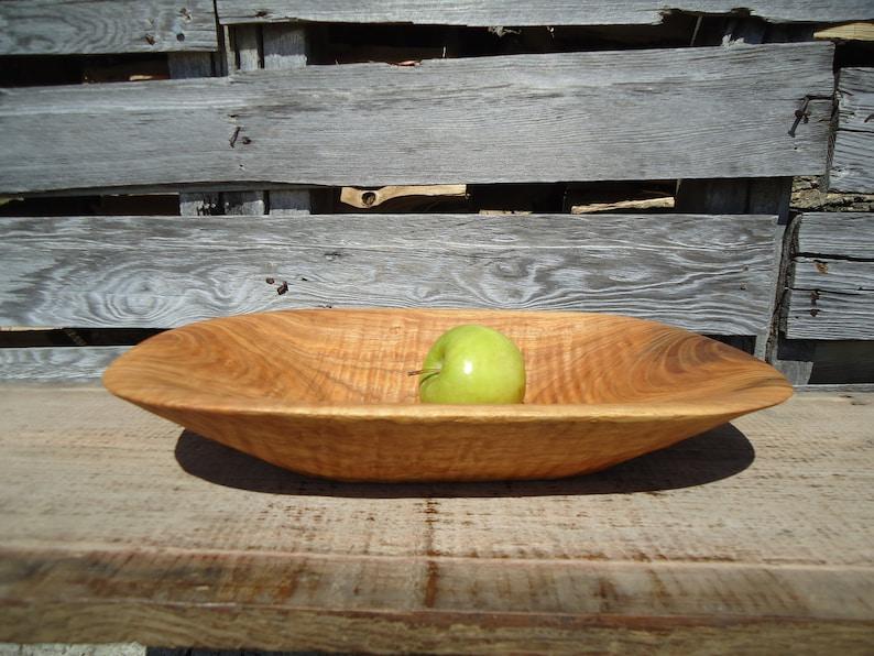 Wedding gift Natural bowl Anniversary gift Art Wood serving bowl Wood bowl Hand carved wood bowl Wooden Kitchen gift Ash Wood bowl