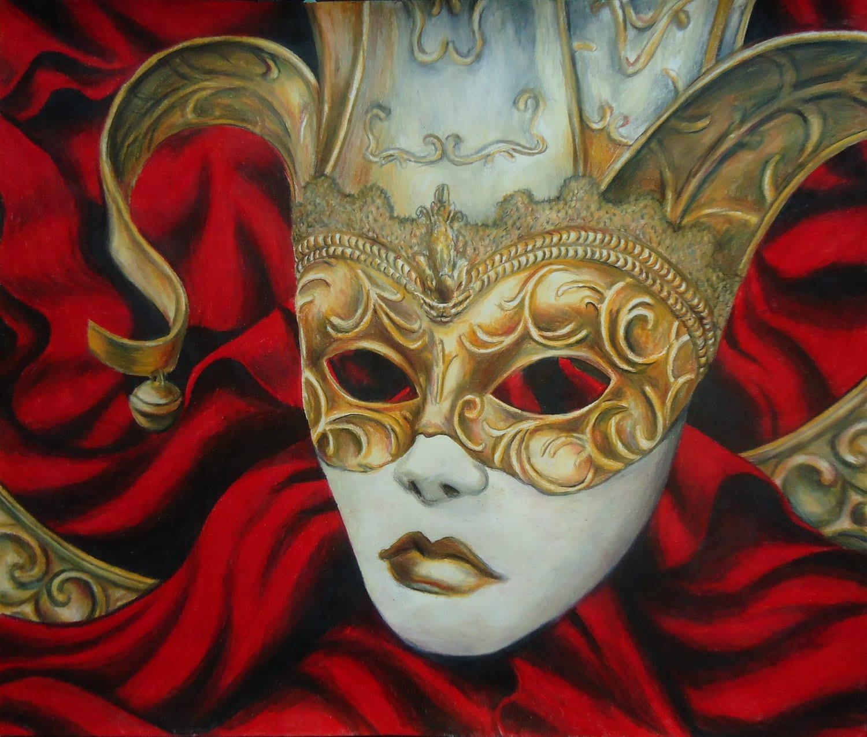 Original Venetian Mask artwork Artwork Colored pencil | Etsy