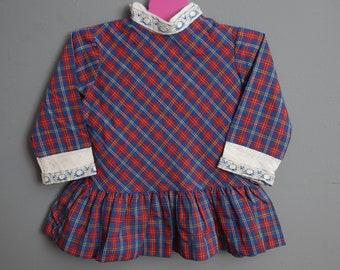 vintage plaid dress