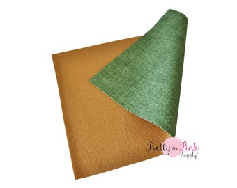 Green Patent Soft Faux Leather Fabric Sheet -Fabric Sheet-A4 or A5 Leather Fabric Material-DIY Hair Bows 1mm Thick