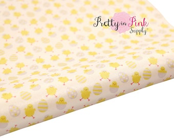 Little Chick Soft Faux Leather Fabric Sheet- Floral Fabric Sheet-A4 or A5 vinyl Fabric Material-DIY Hair Bows 1mm Thick