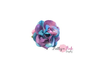 """1.5""""Cotton Candy Premium Paper ROSE ,Wire Paper Flower, Floral Crown Flower,Paper Flowers,Headband Flowers, Headband Supply"""