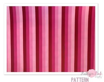 Pattern HTV- Pink Love Stripes- Heat Transfer Vinyl Sheet- Heat Transfer Sheets
