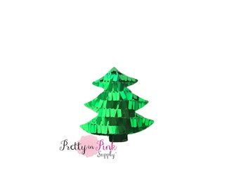 Green Sequin Padded Christmas Tree-Choose Quantity-Tree Applique...Tree...Christmas...Baby Girl...Headband Supply...Diy