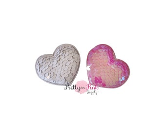 Valentines Day Reversible Sequin Padded Hearts-Choose Quantity-Heart Applique...Hearts...Valentine's Day...Baby Girl...Headband Supply...Diy