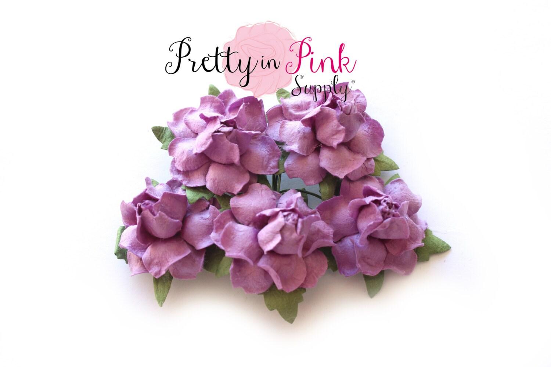 1 premium light purple paper flowers wire paper etsy zoom izmirmasajfo