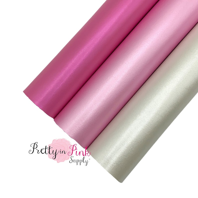 DIY Valentine Metallic Bookmark Supplies Polished Pearl Faux Leather Synthetic Leather for Bows and Earrings Faux Leather Fabric Sheet