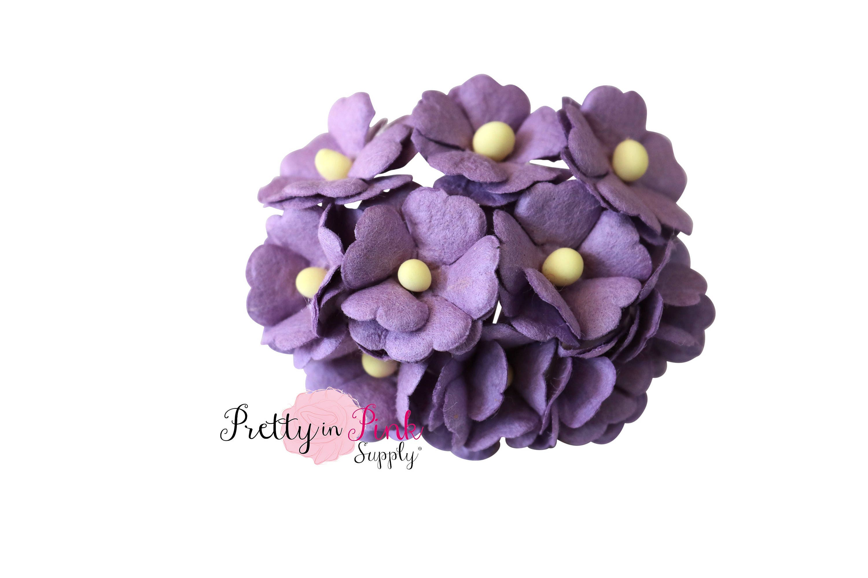 Purple Daisy Flowers Wire Paper Flowers Floral Crown Etsy