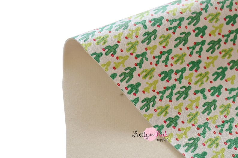 Desert CACTUS Soft Faux Leather Fabric Sheet Fabric Sheet-A4 or A5  Fabric Material-DIY Hair Bows 1mm Thick