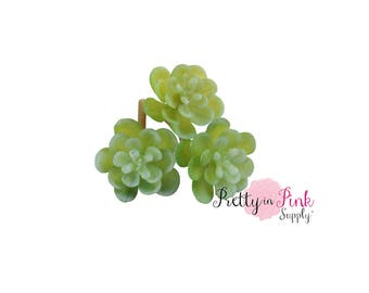Mini FROSTED Succulents-Artificial Succulents-Wedding decor-DIY Wedding-Craft Supplies