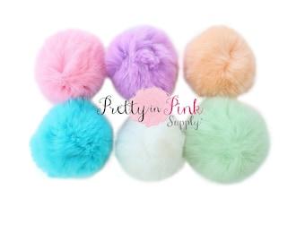 Pom Pom Puff Fur Ball-DIY Craft Supplies-Girl Headband-Headband Supply-Pretty in Pink Supply