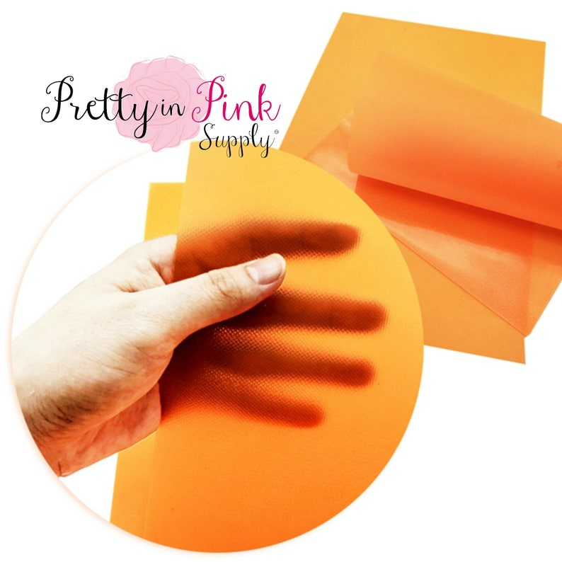 7.5 x 13  Waterproof Jelly Material-DIY Hair Bows .8mm Thick Shiny Textured Jelly Sheets