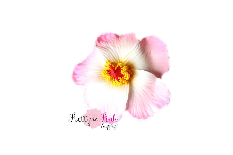 Foam Whitepink Hibiscus Hawaiian Flower Floral Crown Etsy