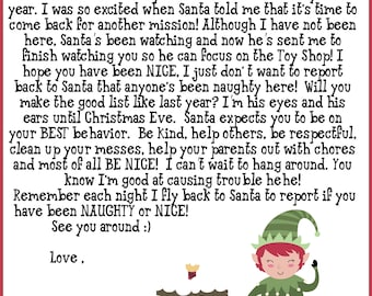 graphic relating to Elf on Shelf Letter Printable named Elf letters Etsy